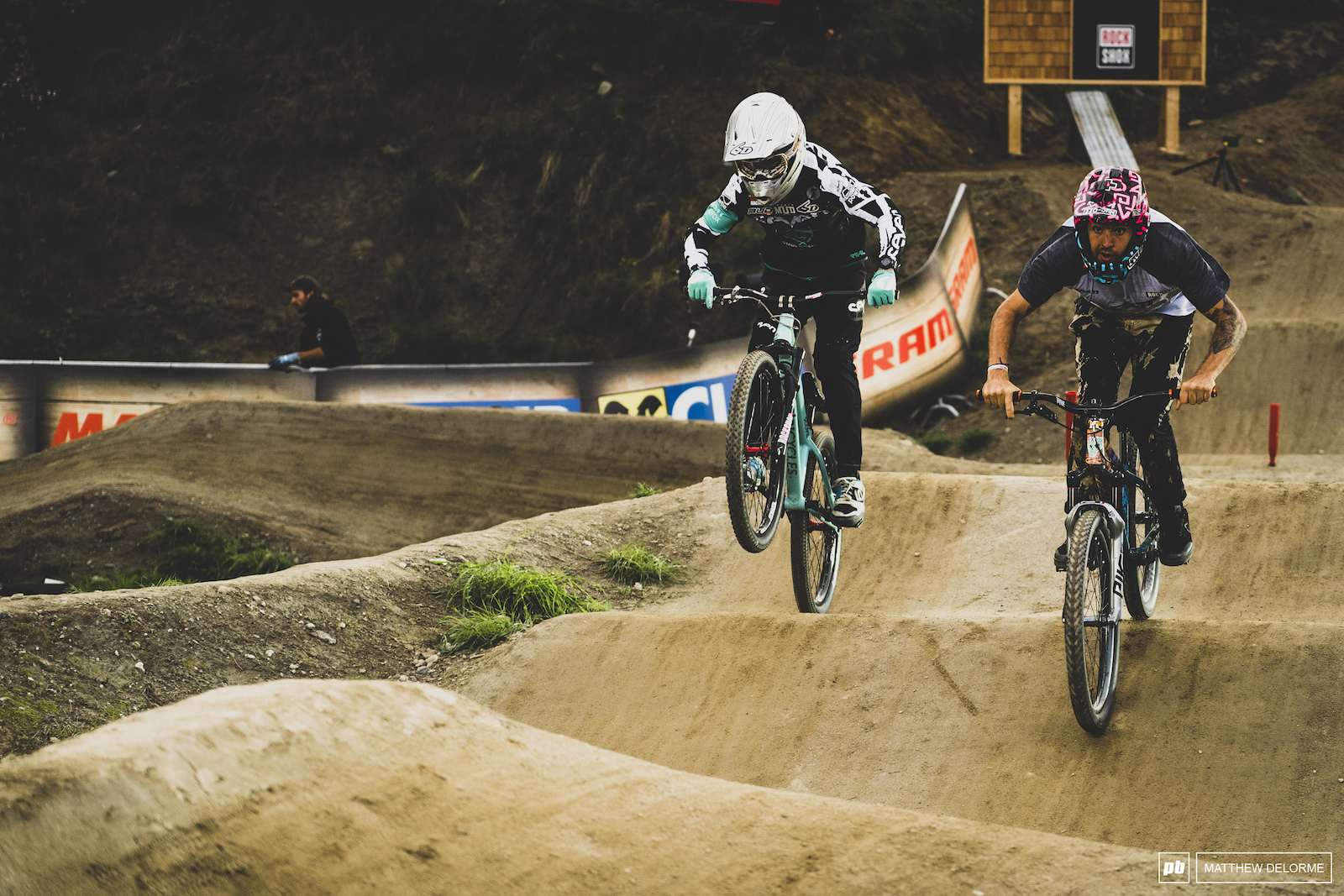 Tomas Lamoine would finish third after a big day of slopestyle practice followed by pumptrack.