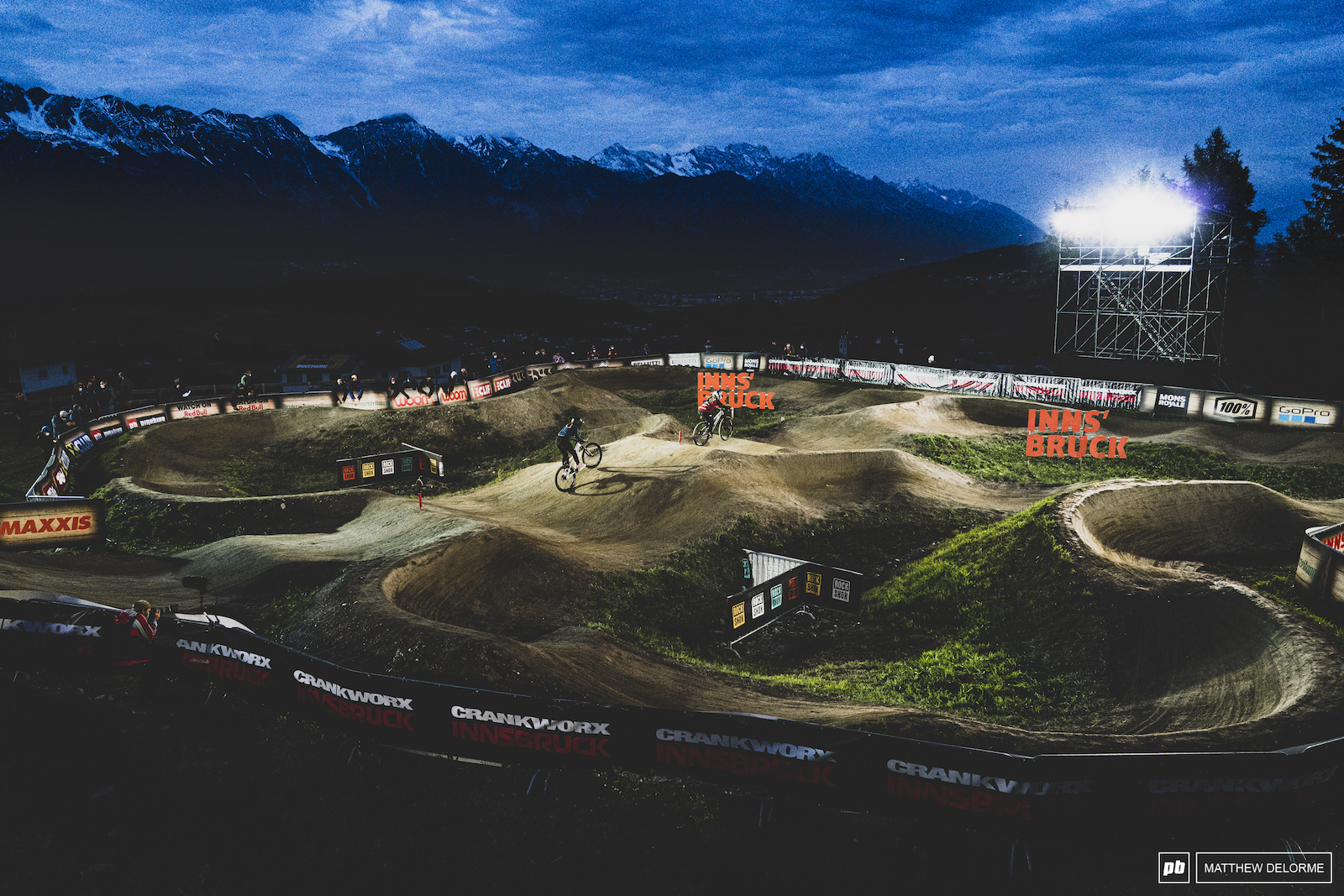The Innsbruck track is kind of a double figure of eight.