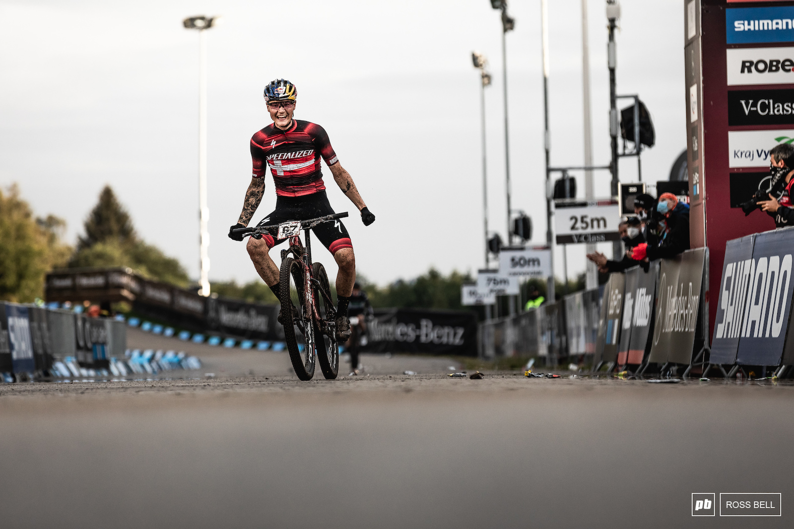 That first World Cup win for Simon Andreassen.