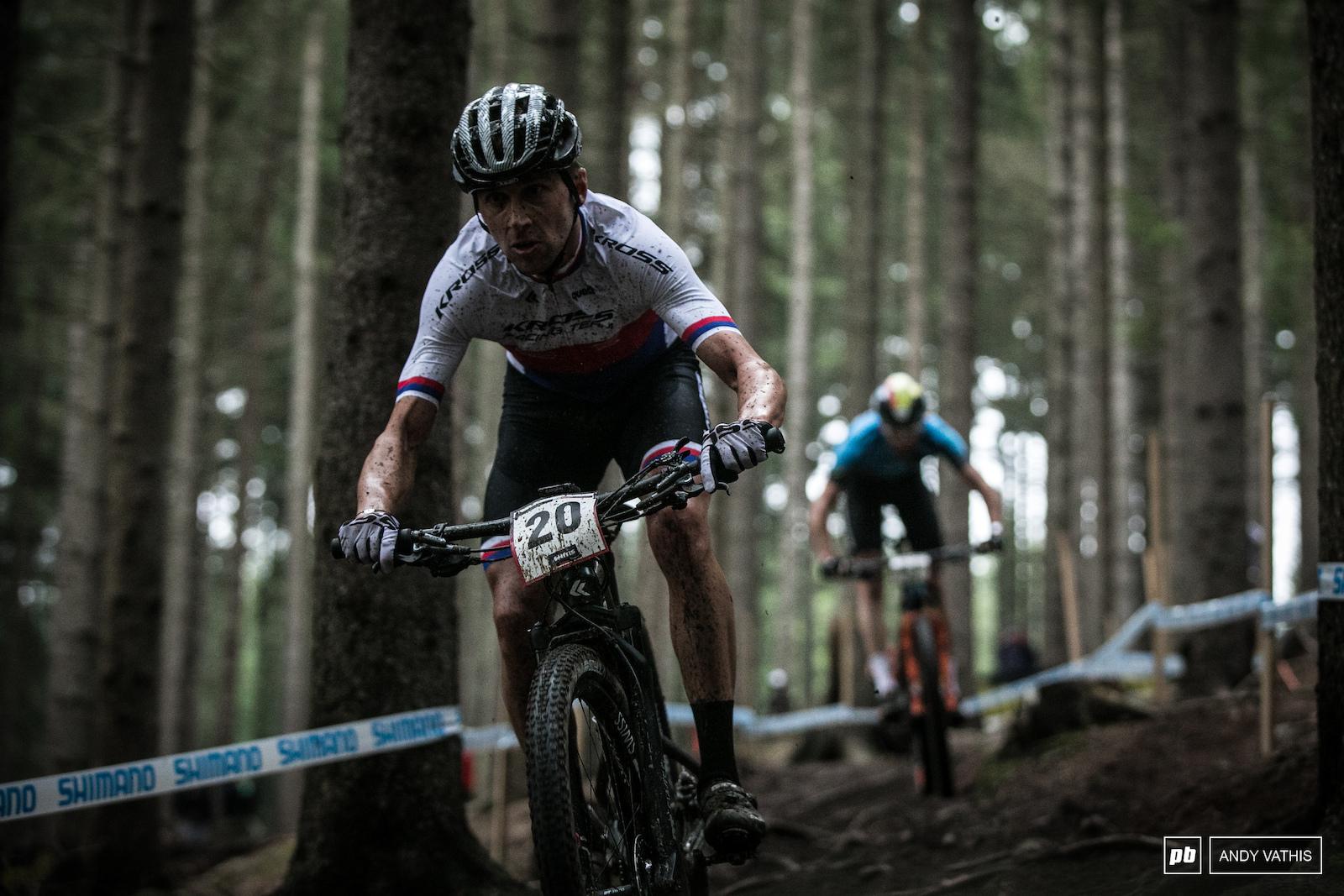 Ondrej Cink rode into ninth.