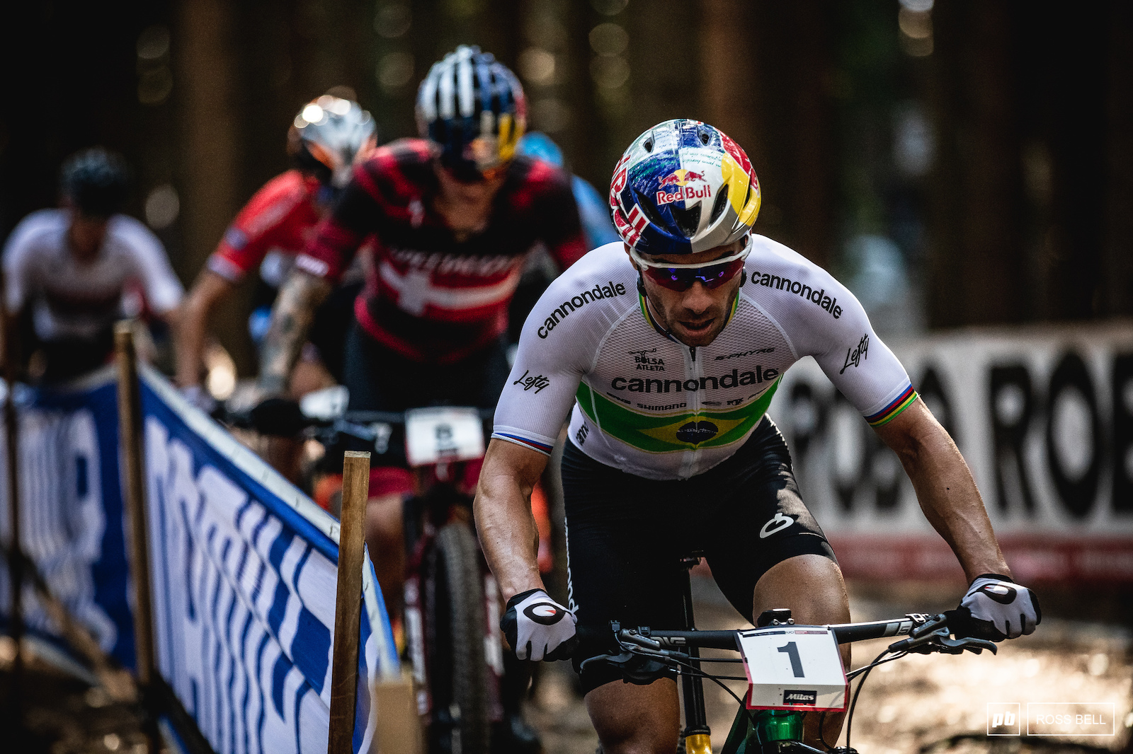 Henrique Avancini rode aggressively at the front all afternoon and managed to hold on for the win.