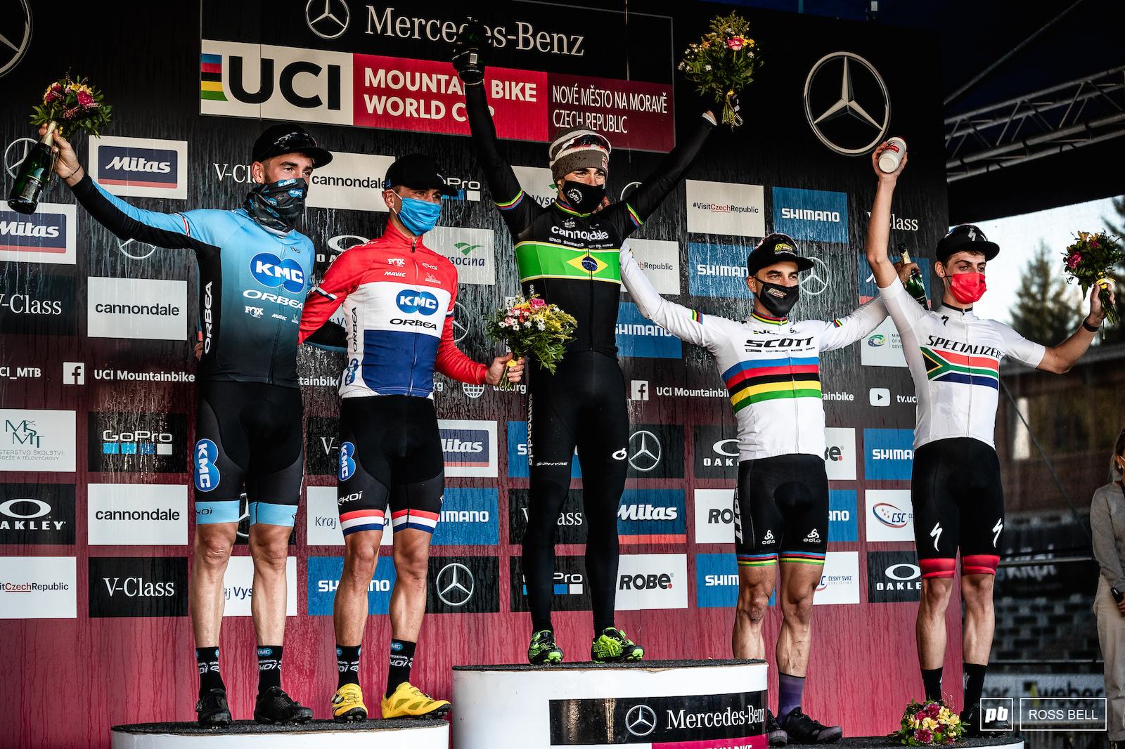 Your top 5 elite men 1st Henrique Avancini 2nd Milan Vadar 3rd Nino Schurter 4th Victor Kortetzky 5th Alan Hatherly