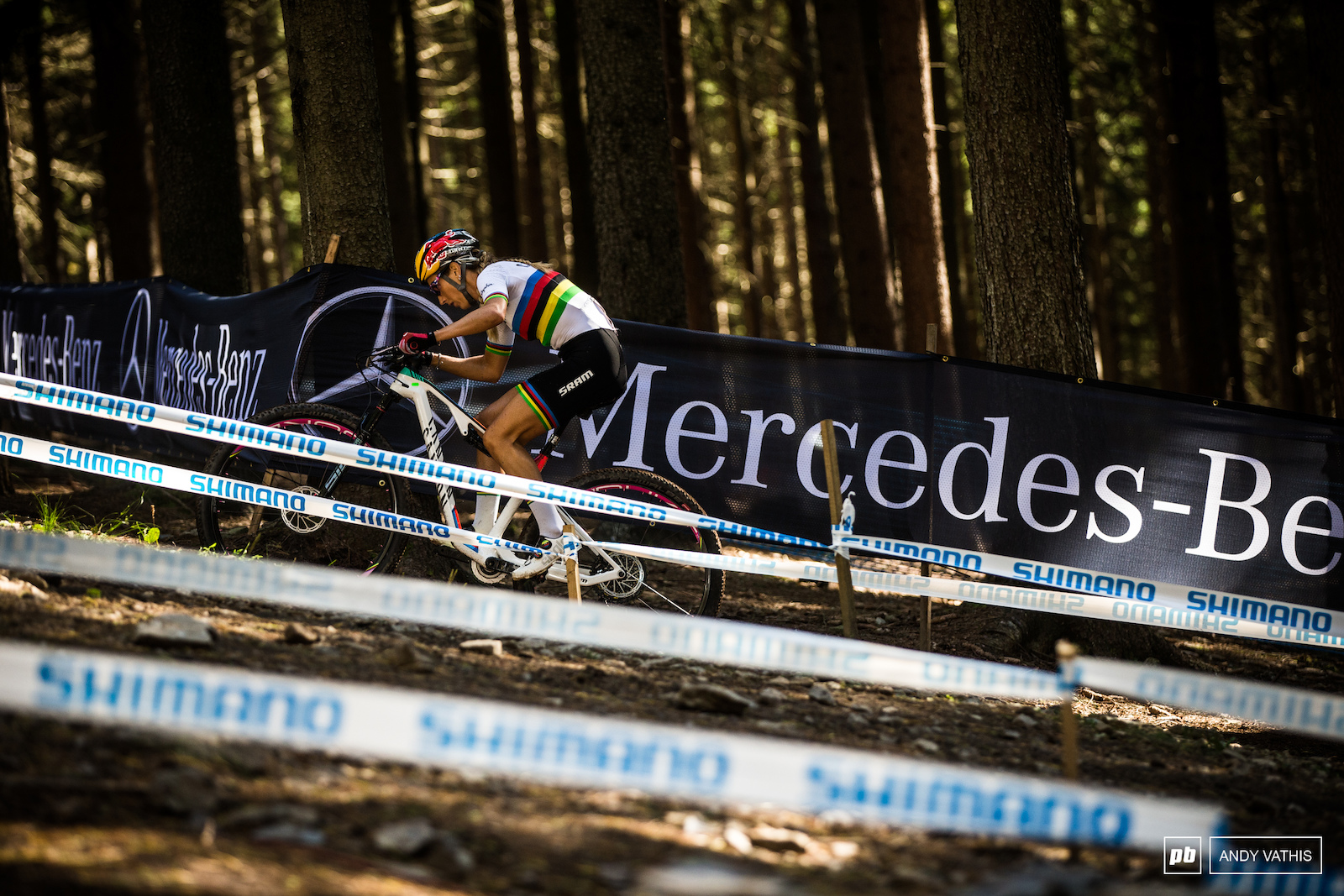 Pauline Ferrand Prevot showed us all why she earned the stripes today. She got on the horse and never looked back.