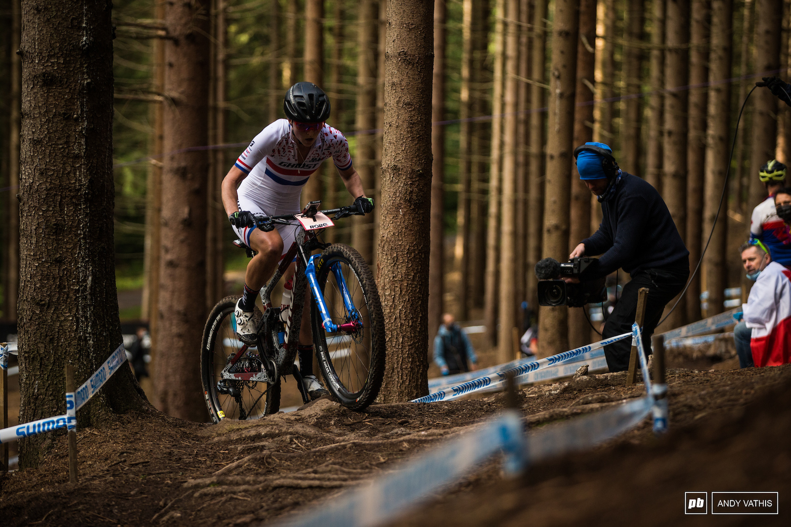 Anne Terpstra dug deep to keep up with Pauline s pace but would never pass her. Second on the day after a big effort.