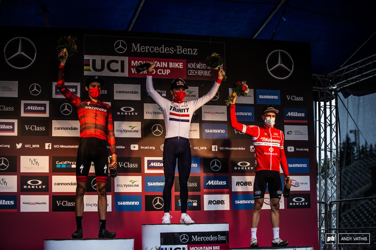 Your U23 men s podium - Thomas Pidcock Christopher Blevins and Vital Albin.