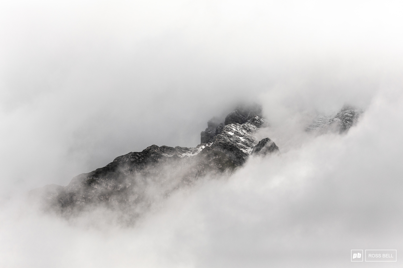 The mountains were hiding away in a blanket of cloud this morning.