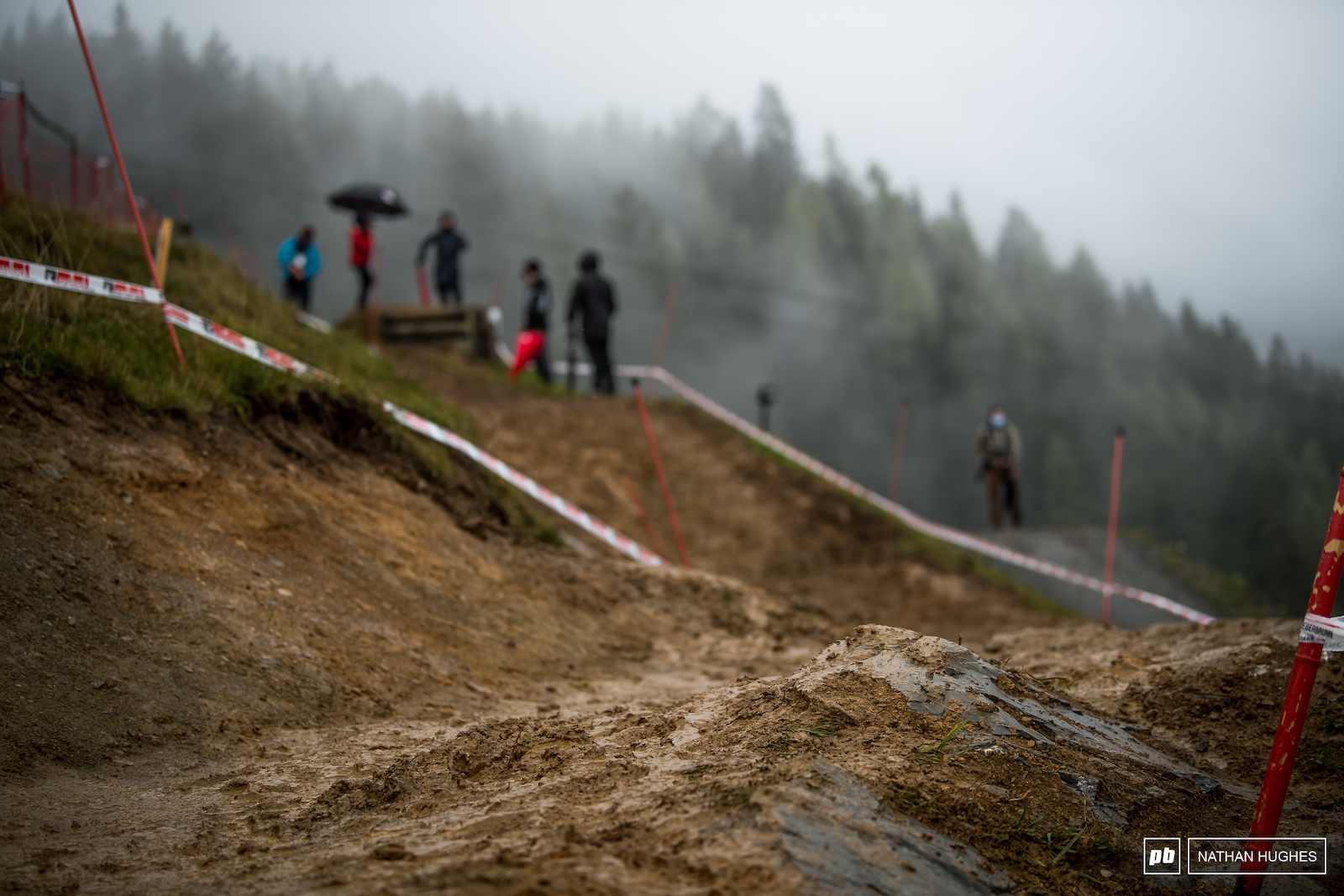 We re used to some thick mud in Leogang but well...double the usual.