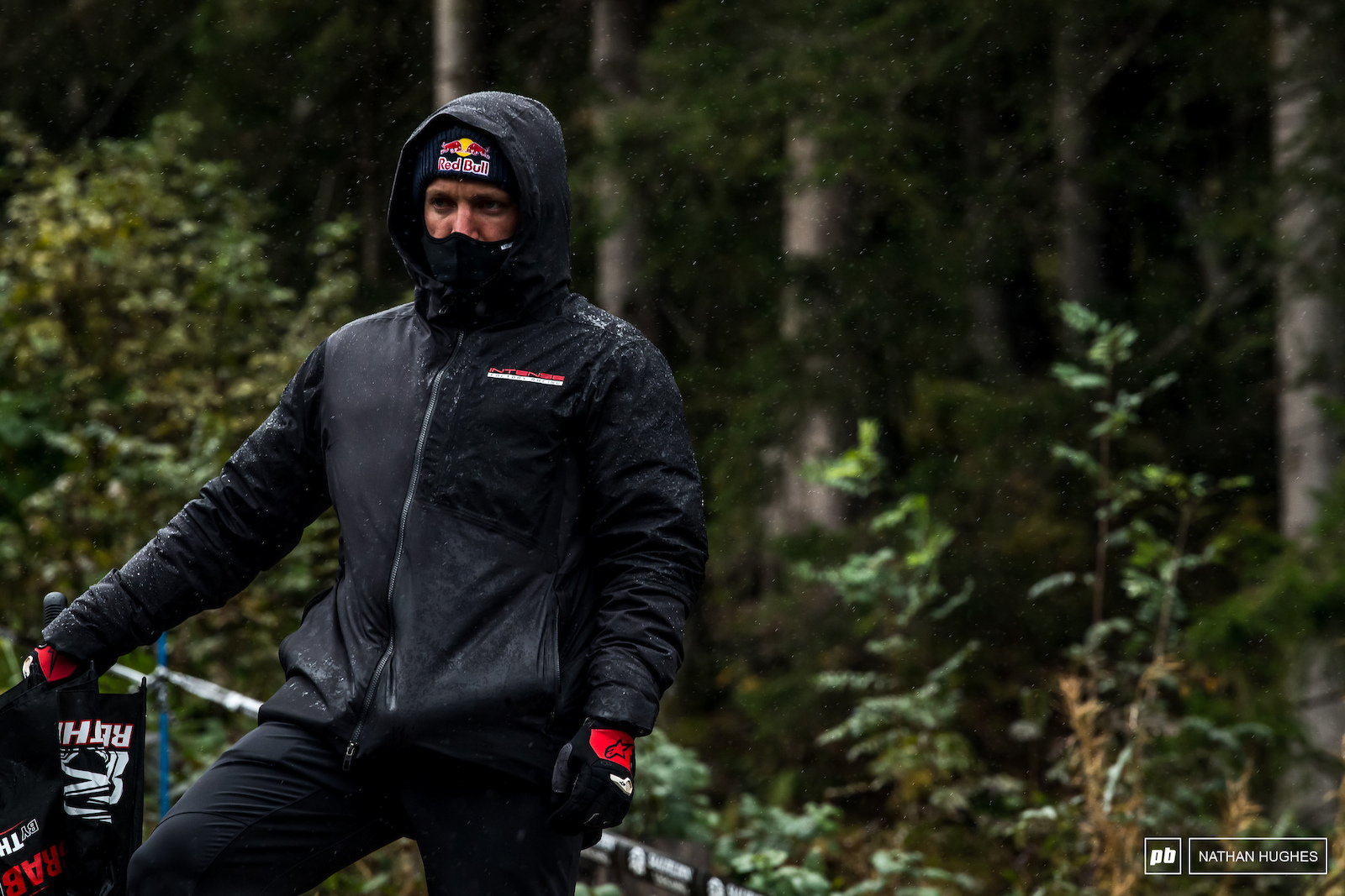 Aaron Gwin knows Leogang and how to win it come what may... But does he know this kind of Leogang The extreme weather is a curveball and the new section well you ll see.