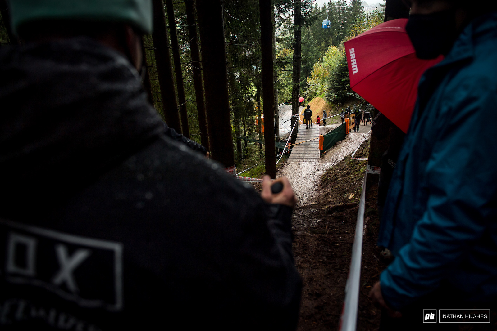 It might not look like much but that kicker is one of the bigger jumps we ve seem at a World Cup Champs race.