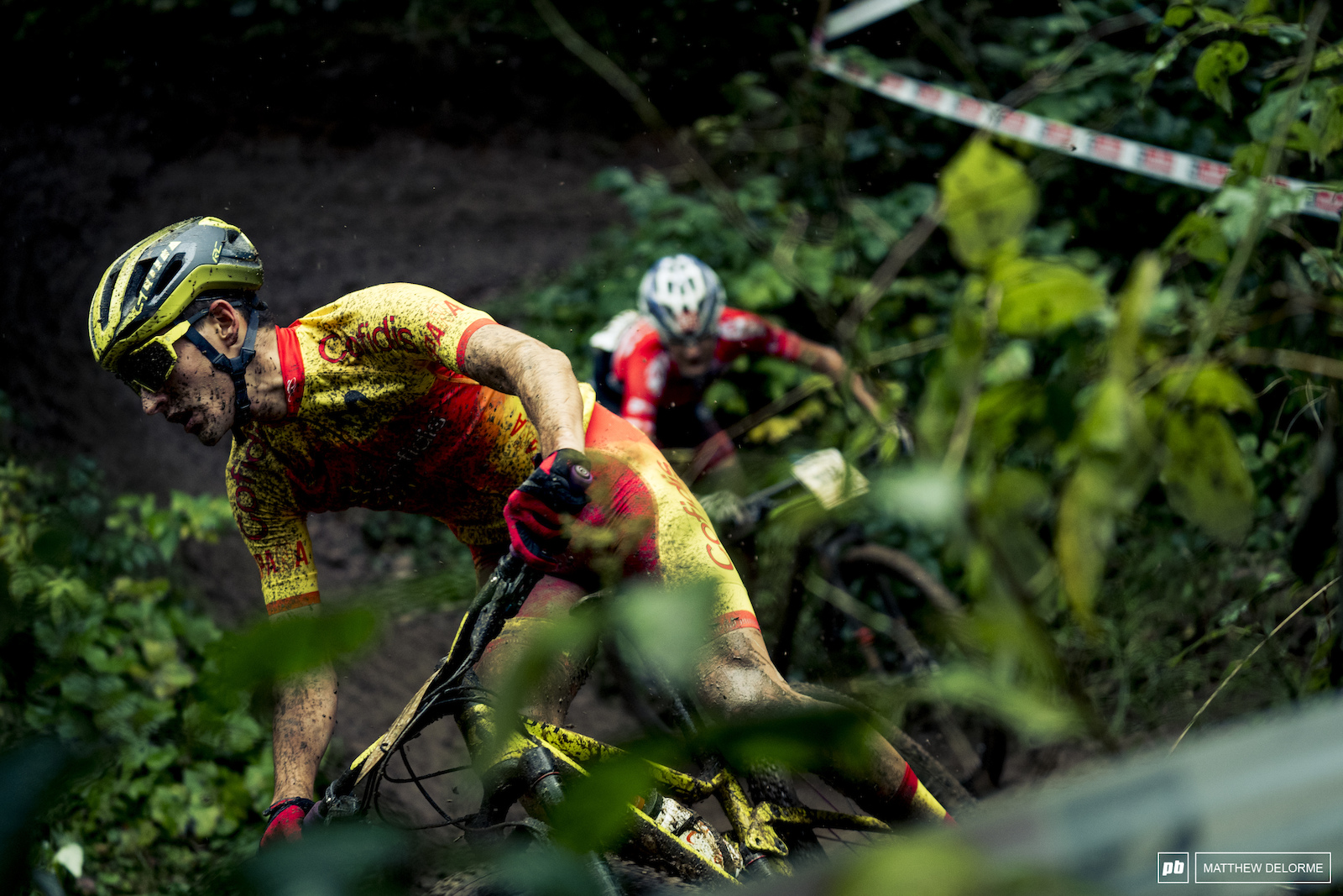 Racing got underway today with a sloppy team relay then the E MTB worlds.