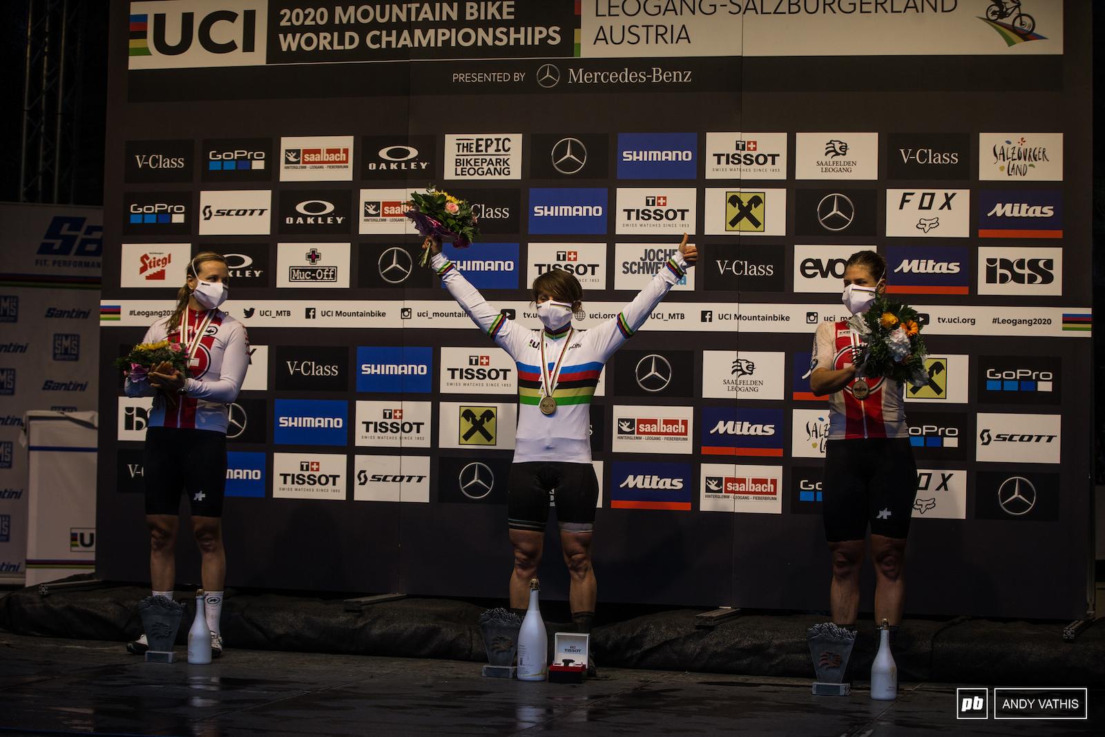 Your women s e-bike podium - Melanie Pugin Kathrine Stirnemann and Nathalie Schneitter.