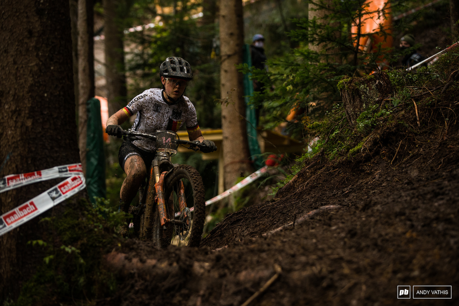 Sofia Wiedenroth surviving the deep ruts into fourth.