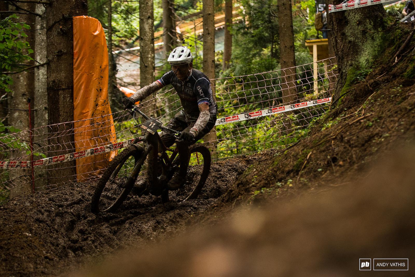 Jean Pierre Bruni enjoying the ruts.