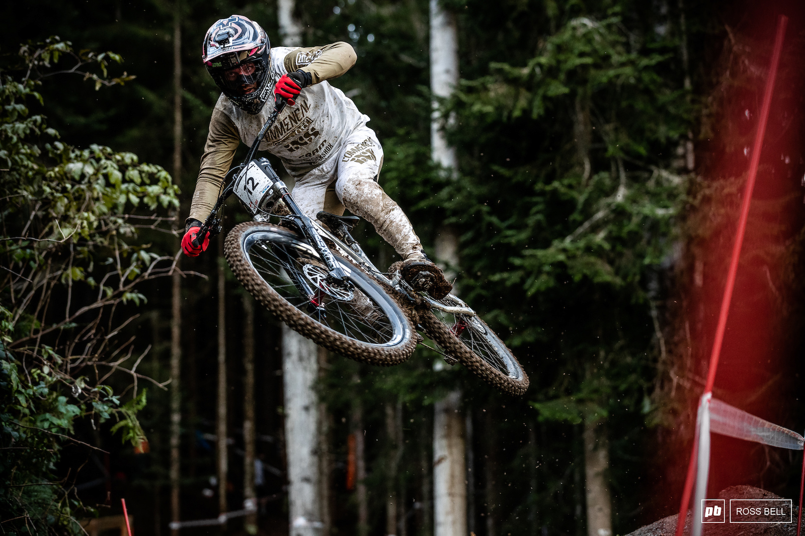 Remi Thirion launching out the woods.
