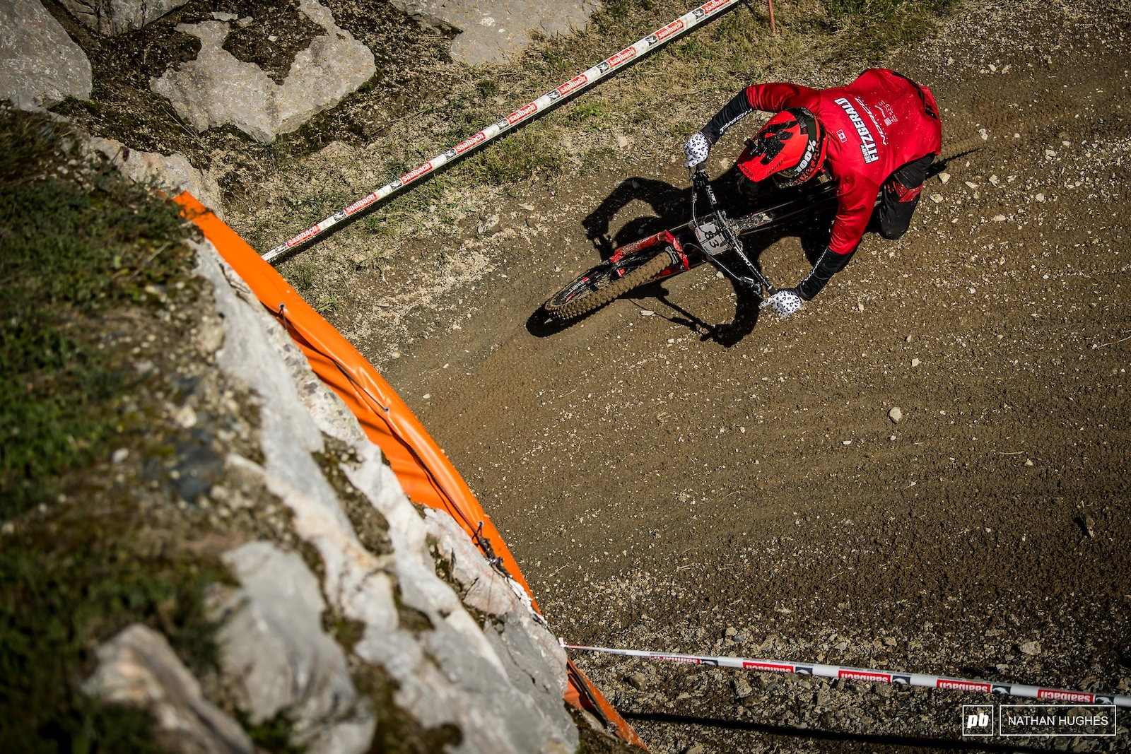 Henry Fitzgerald riding high and hard for team Canada.