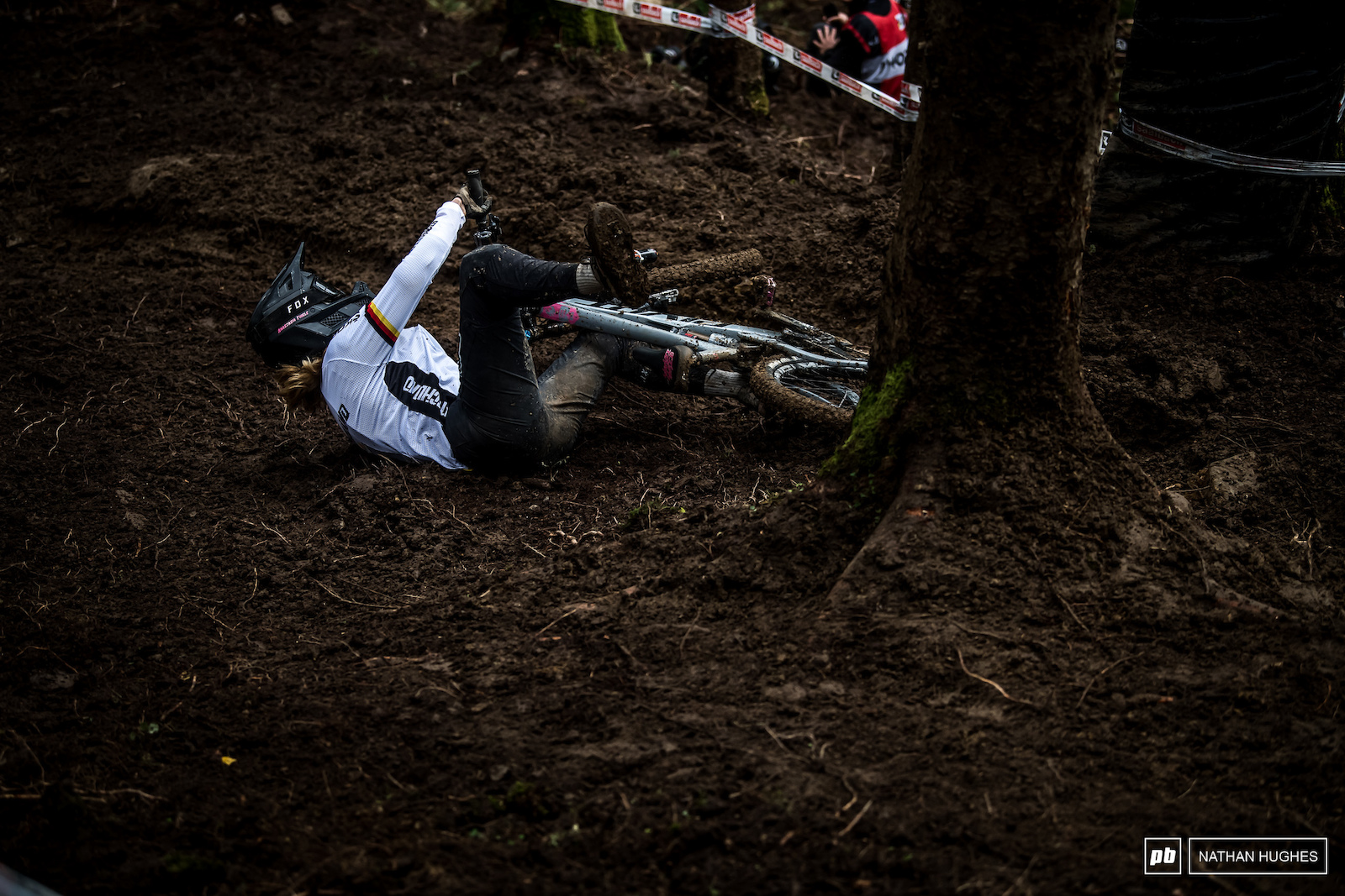 Anastasia Thiele may have muddied up her bright whites but managed to hold on to third in junior women.