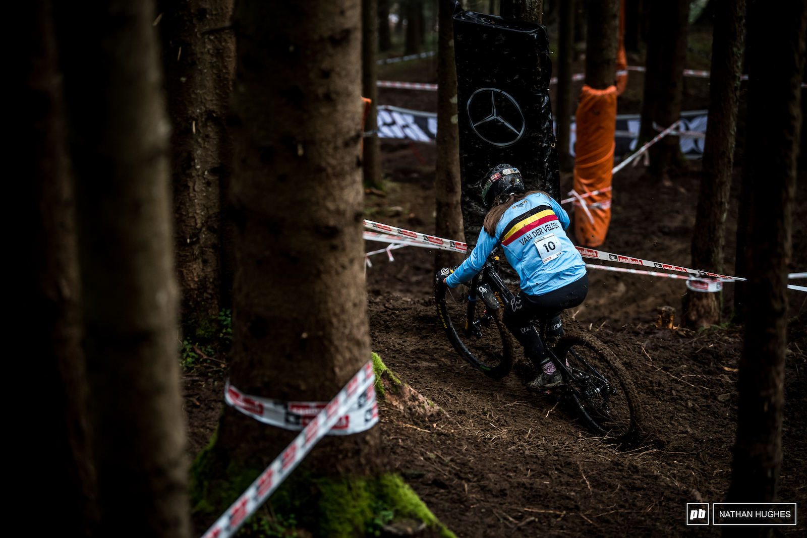 Siel Van der Valden gunning for a silver medal on Sunday in junior women.