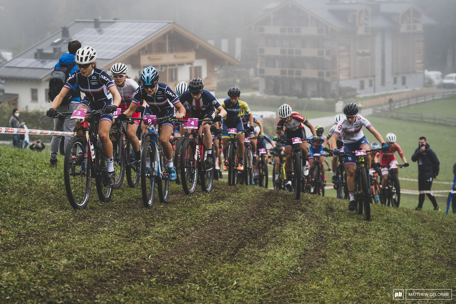 Lecomte leads the charge off the start.