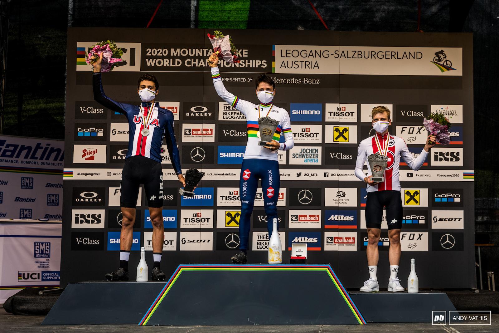 Your U23 Men s podium - Thomas Pidcock Christopher Blevins and Joel Roth.