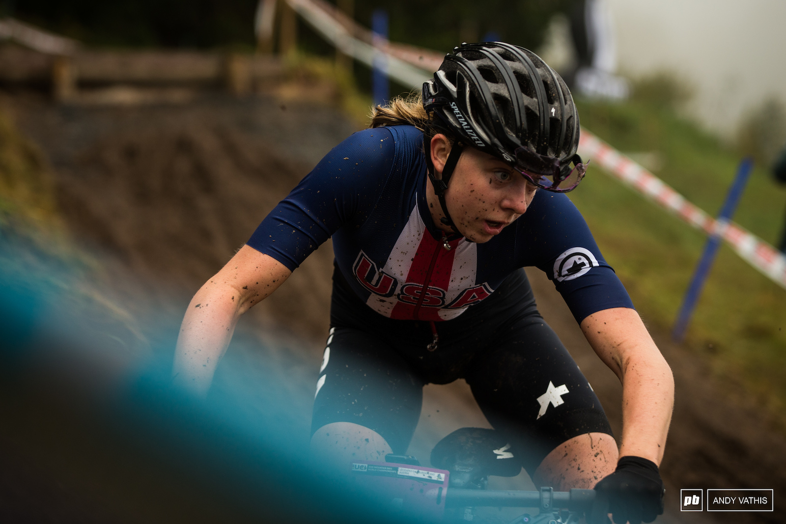 Haley Batten finally finished her day in fourth but not before flirting with podium positions earlier in the race.