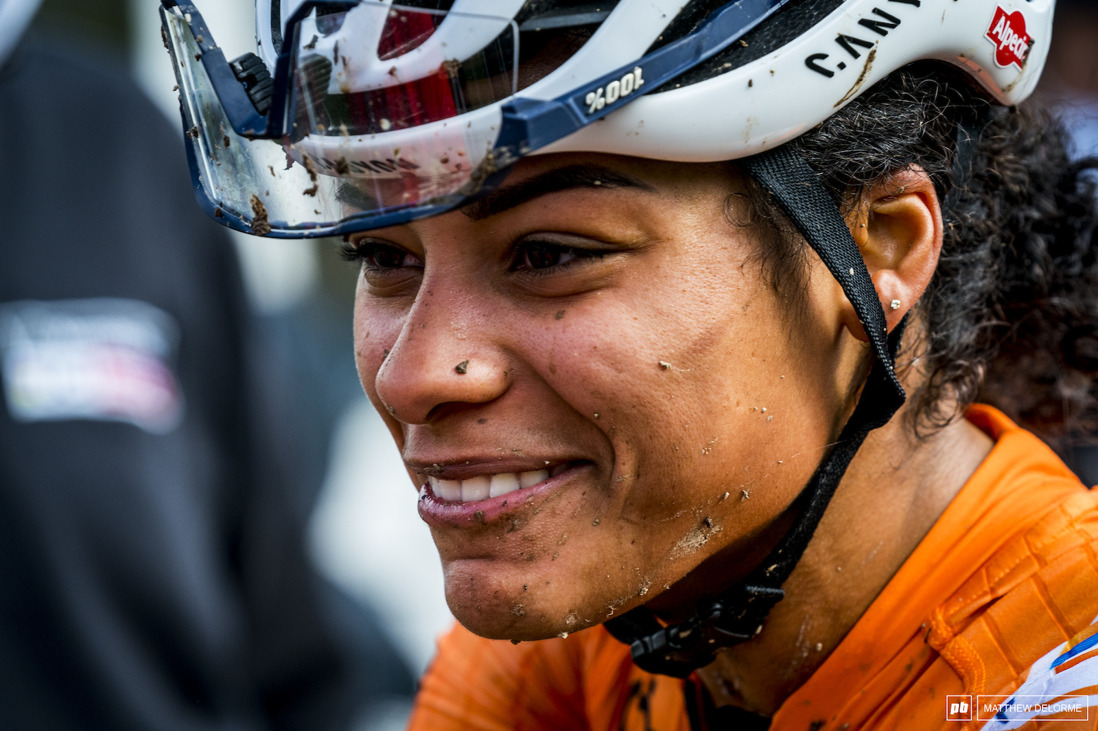 Ceylin Alvarado got in out of the scrum and into a place where she could ride her race and took third.