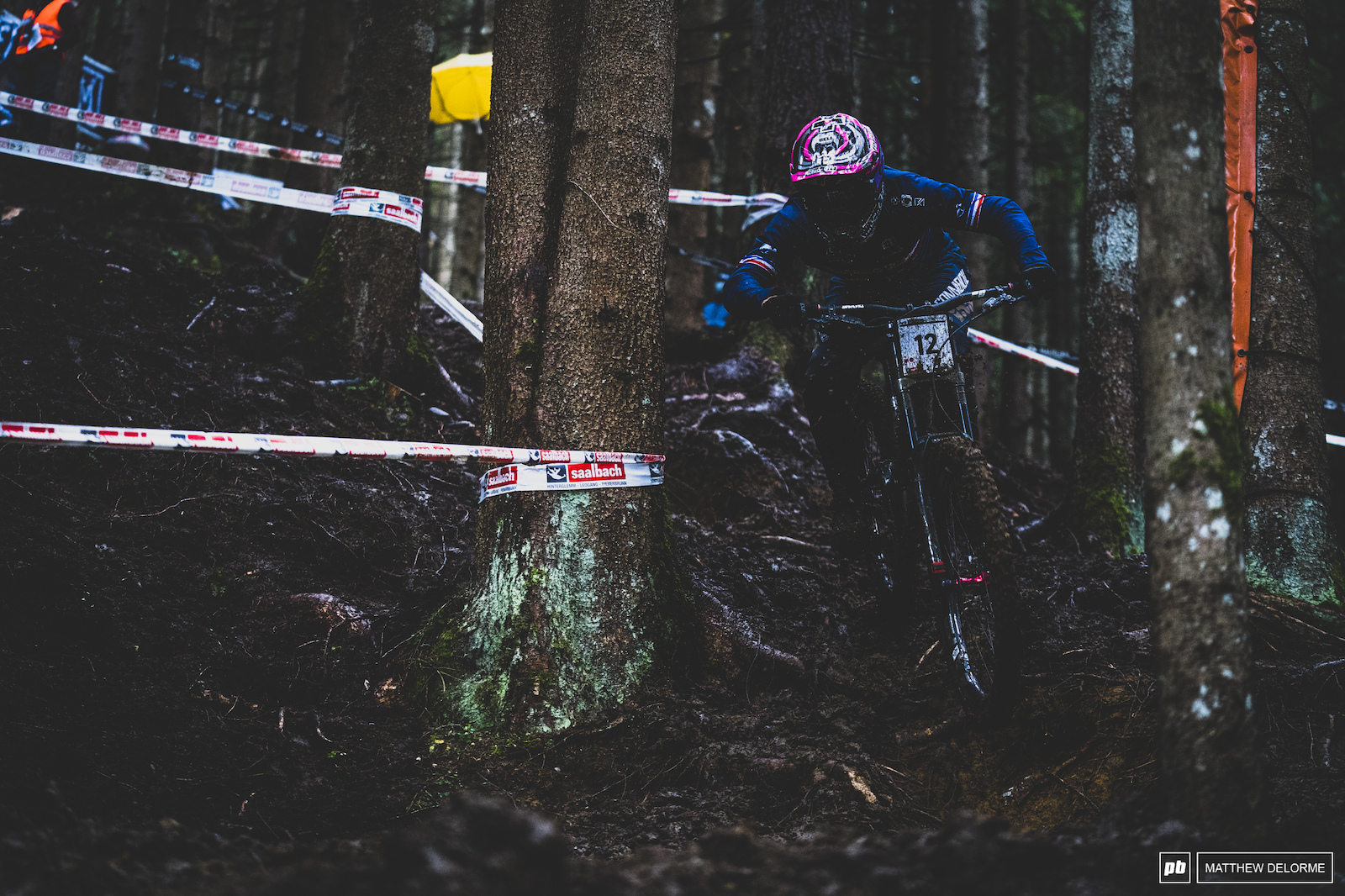 Remi Thirion on his was to third place in what was a truly wild rn.