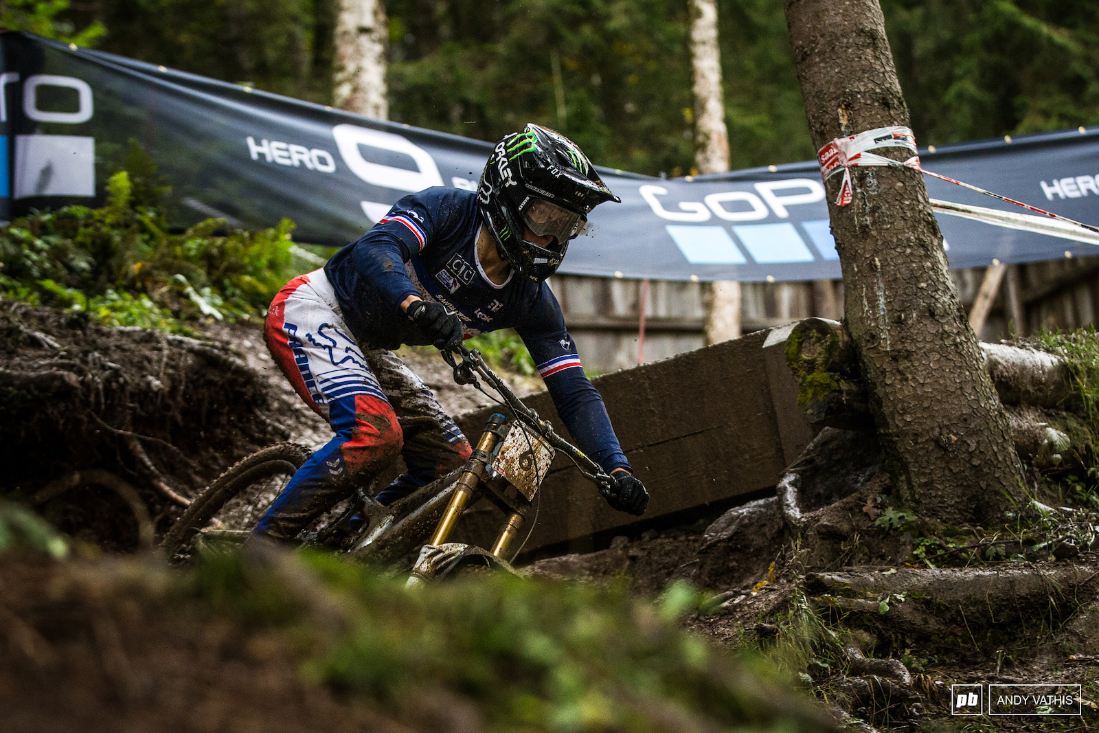Loris Vergier put down a blistering time in qualie s. The deteriorating track conditions had him sitting further back in finals in 10th.