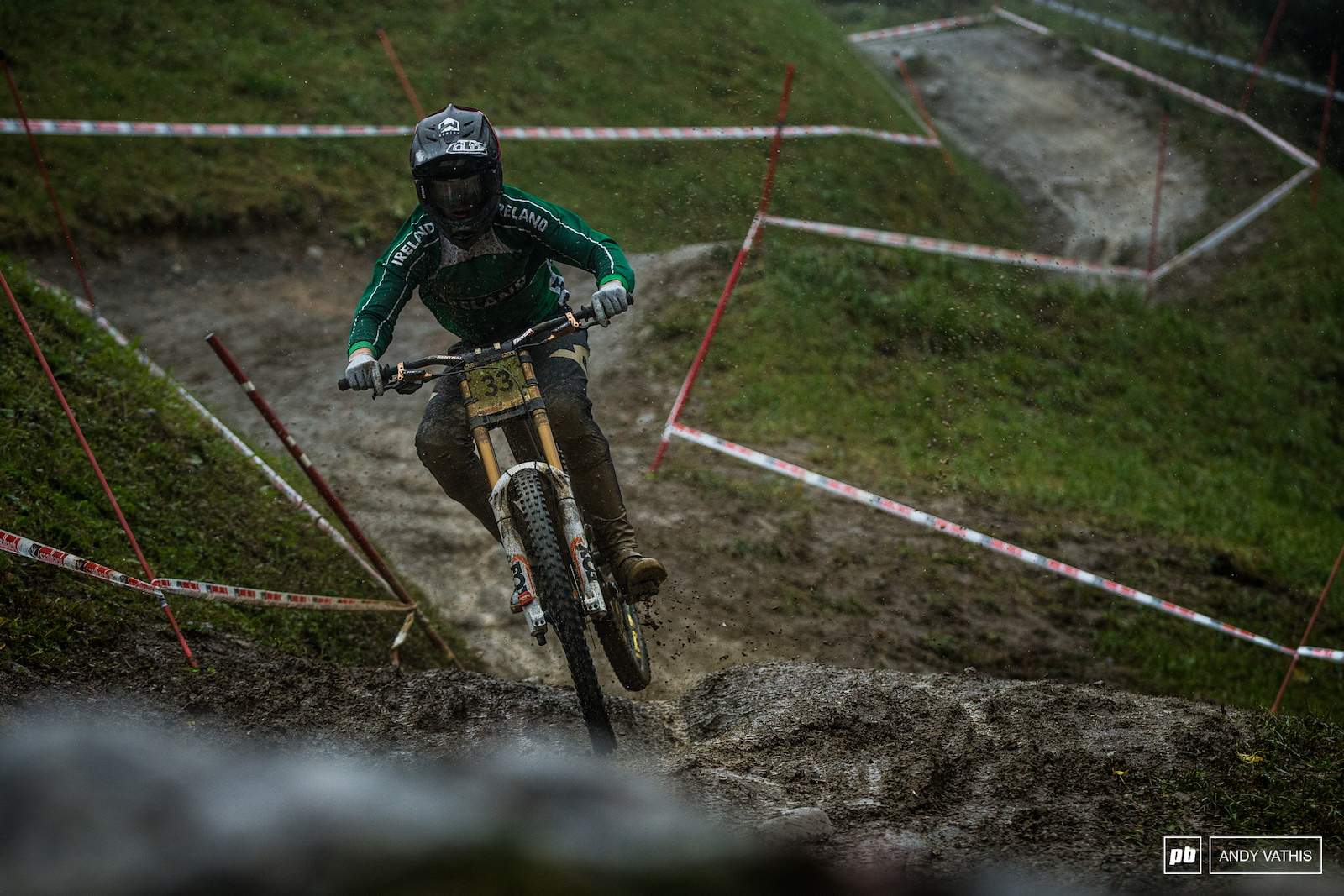 Oisin O Callaghan fought the early cold conditions into first for the Junior Men.