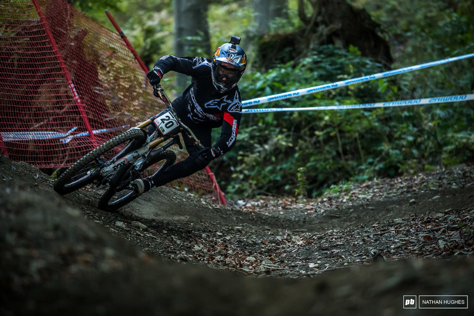 Aaron Gwin more at home without the water-logged axle-deep ruts salting his game.