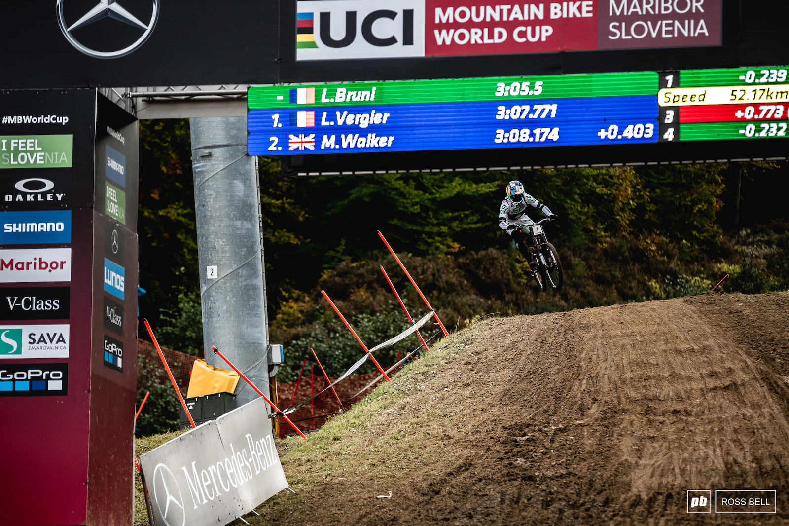 Loic Bruni was 2 tenths up going into the final split but lost a little time in the bottom woods and ended up second by the smallest of margins.