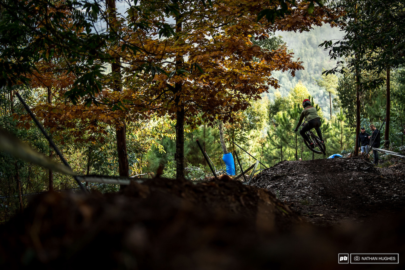 Still a little surreal to see World Cup racing go down with autumn colours in the woods.