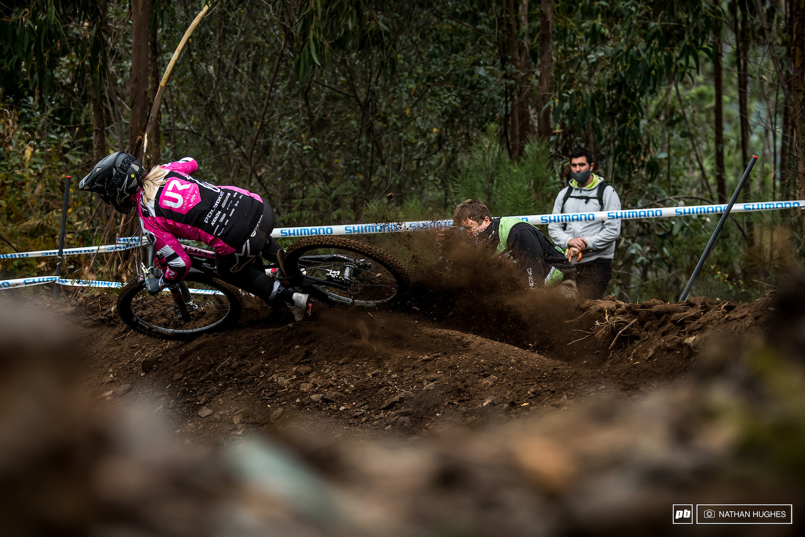 Tracey Hannah celebrating her last days at the World Cup with some good old-fashioned roost and the fastest TT lap.