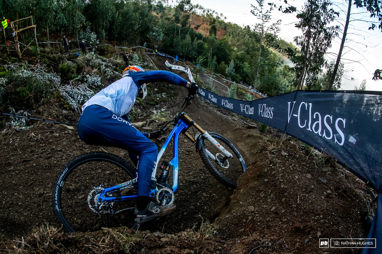 Baptiste Pierron looking good and going hard on the bike as we ve come to expect.