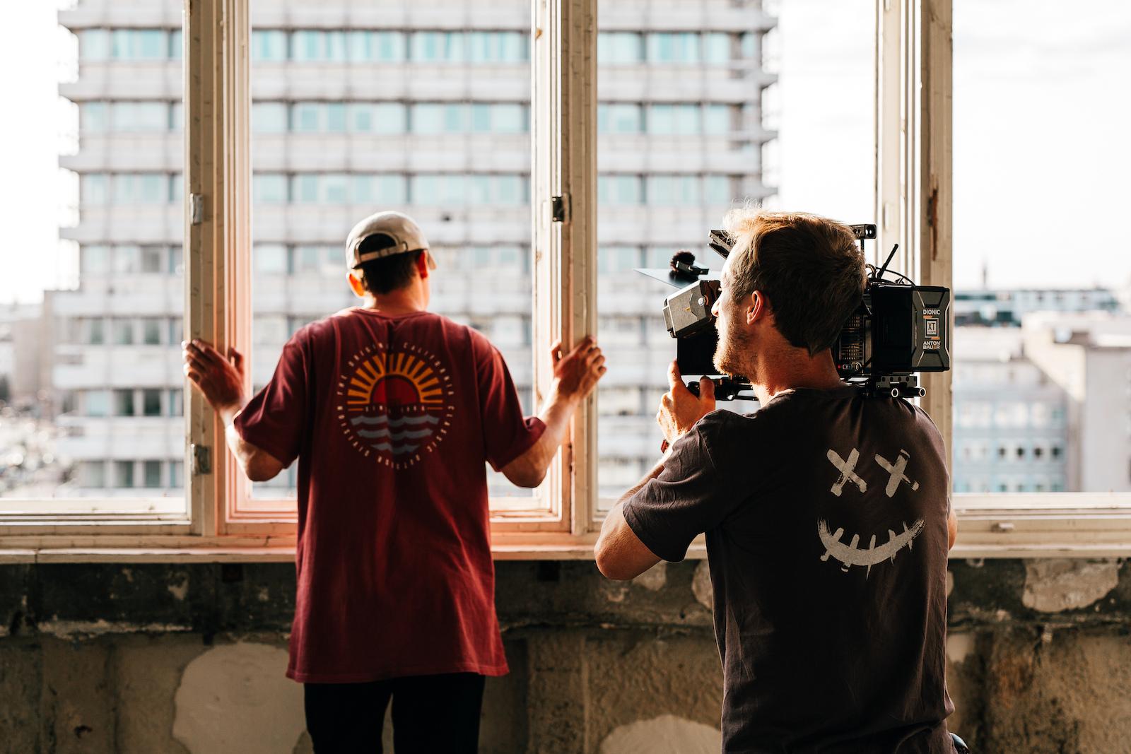 DP Toni Tillmann getting shots of BMX street heavy weight Bruno Hoffmann