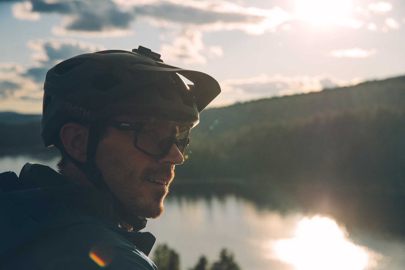 Braydon Bringhusrt overlooking Payette Lake in McCall