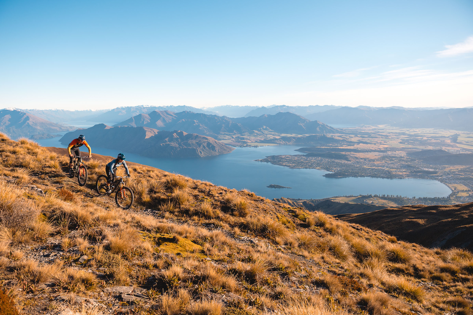 The views back over a waking Wanaka from high above are immense.