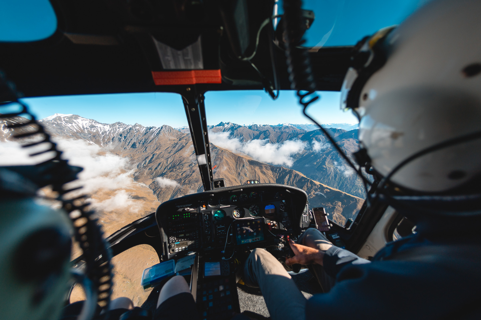Another quick heli bump to our next riding destination in Minaret Station.