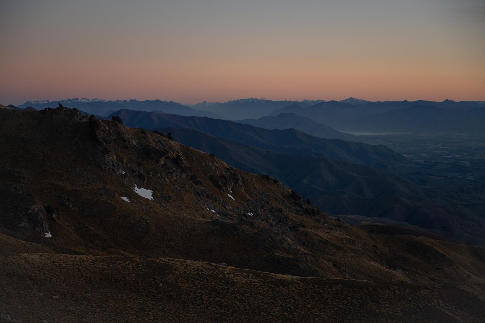 Beautiful layers looking towards Wanaka from the Cardrona resort.