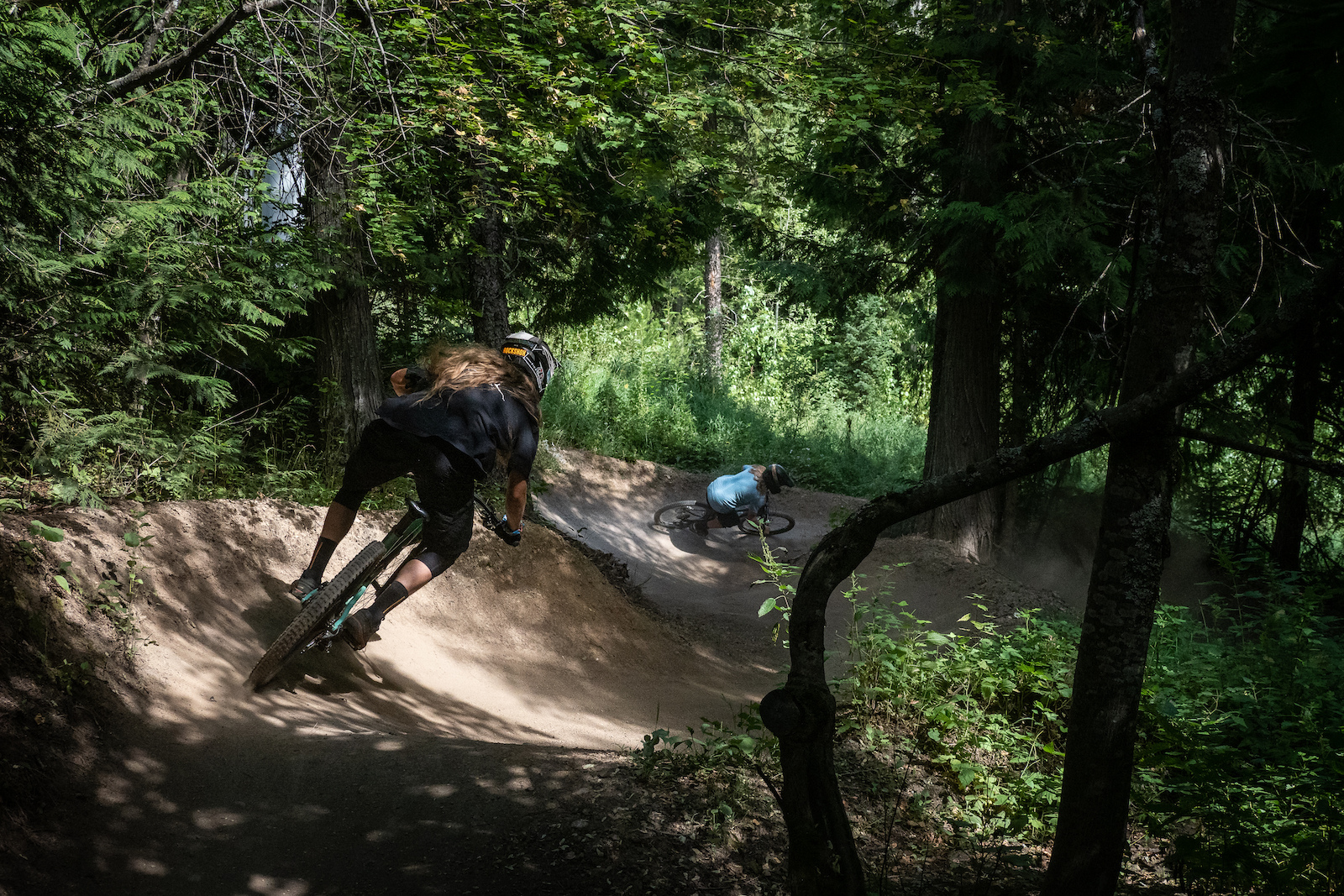 Railing the perfectly shaped berms of Duff Dynasty