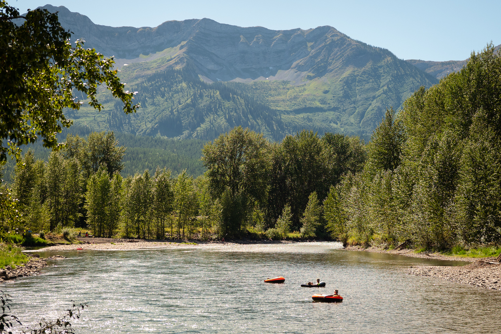 Lazy afternoon float down the Elk River