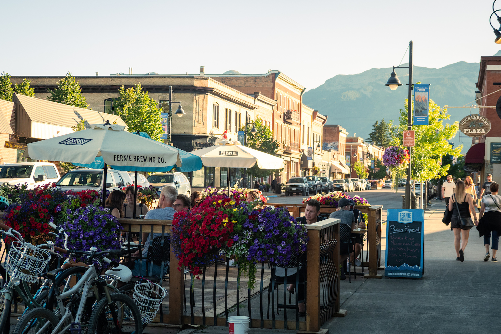 Lots of great outdoor seating on the main drag in Fernie
