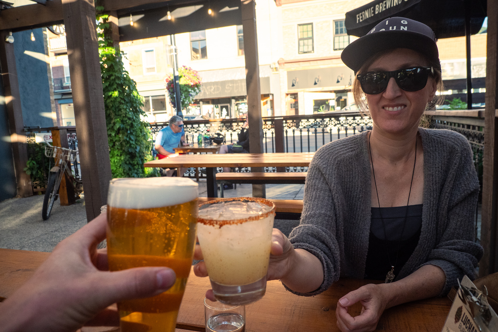 Happy hour at the Luchadora Burrito Co.