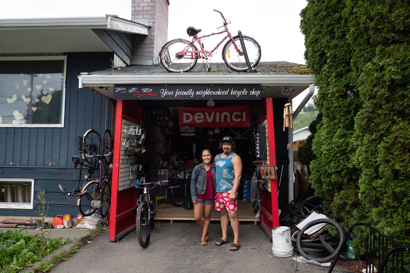 The friendly crew at R.E.D Cycles