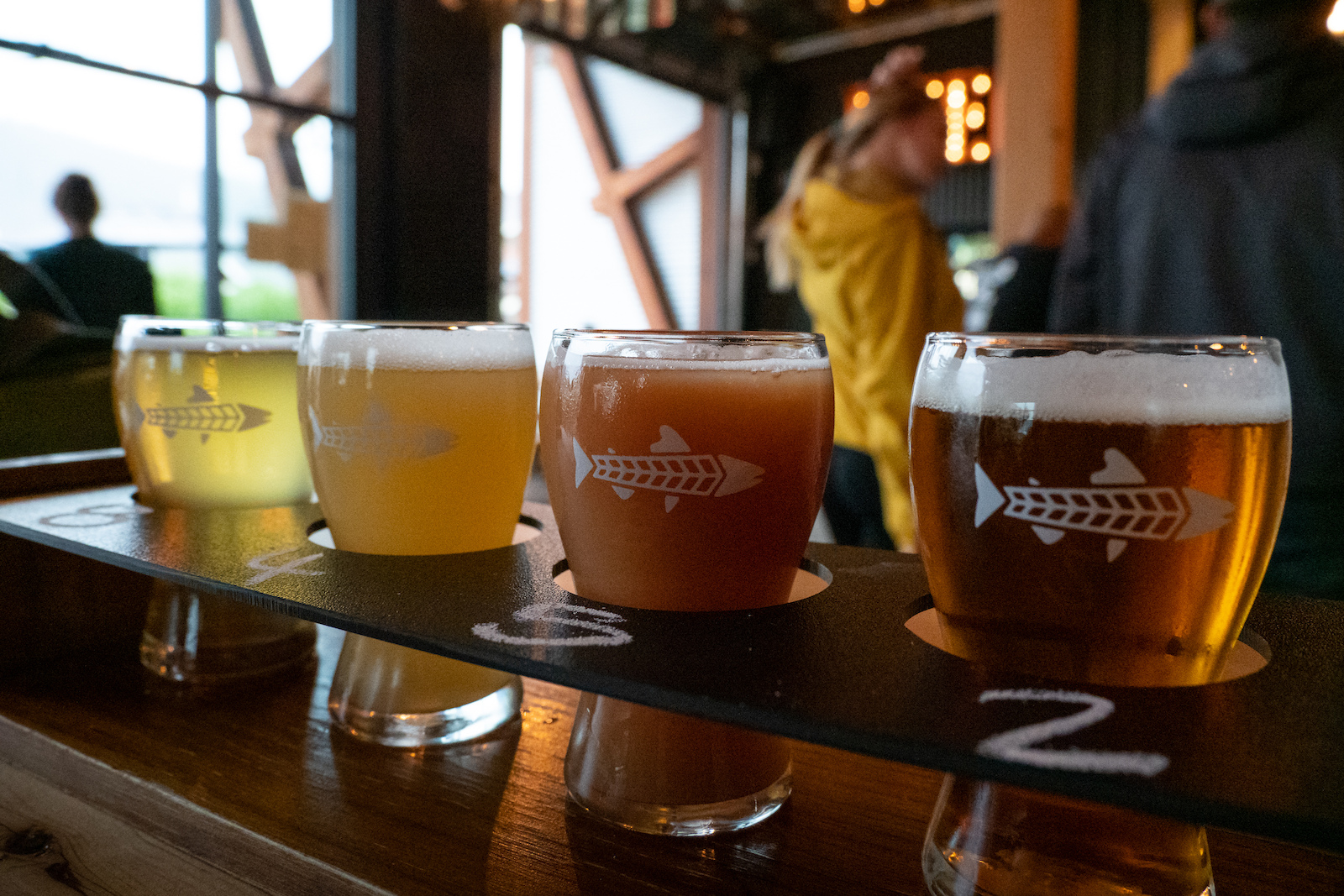Smithers Brewing like their experimental and seasonal brews as seen in the diversity of their flight.