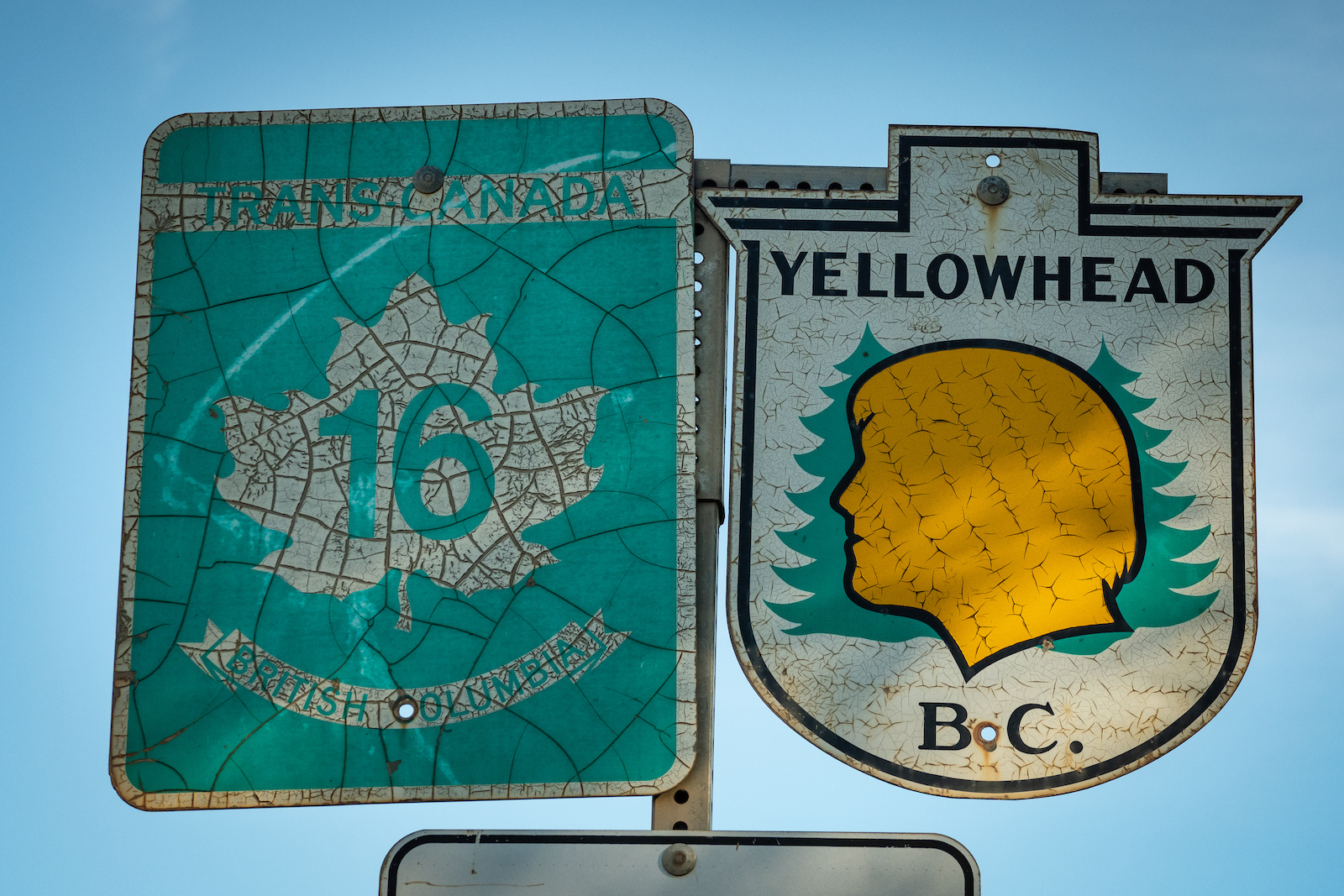 The Yellowhead Highway hwy 16 runs from Prince Rupert just west of Terrace all the way across BC Alberta Saskatchewan and Manitoba.