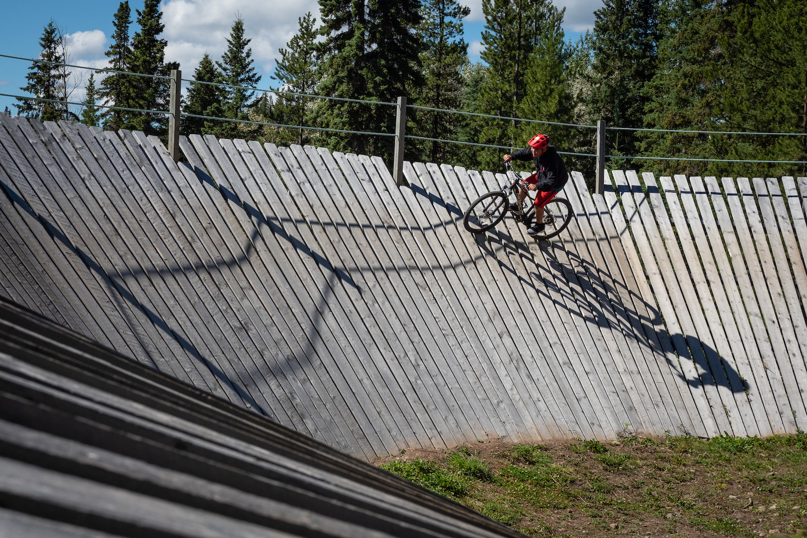 One of the most stoked members of the Spirit North program who provides First Nations youth with bikes helmets and coaching to encourage a connection to their territory through sport.