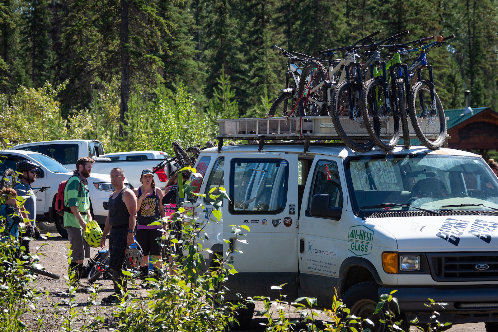 The local crew in Burns Lake are some of the most welcoming people in mountain biking - always making sure the van is packed with friends old and new.
