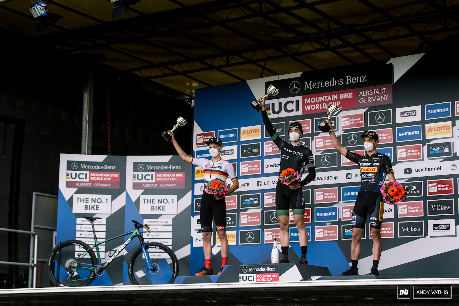 Your top U23 Men - 1st Carter Woods 2nd David List and 3rd Simone Avondetto