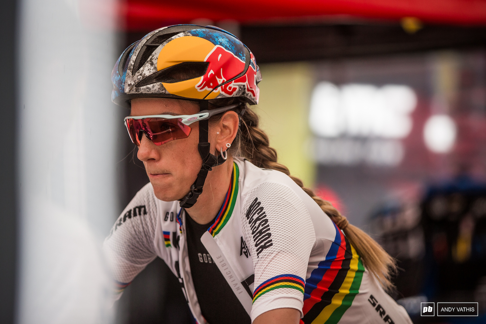 Pauline Ferrand Prevot is coming of a win on Friday night and as focused as ever.