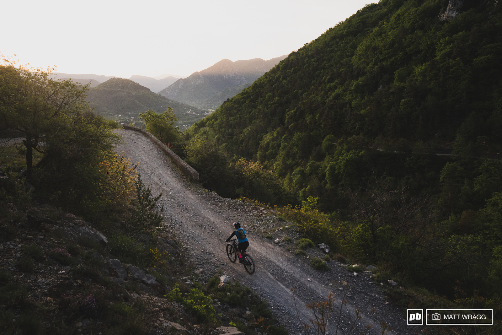 There is not much on-trail climbing here in the South of France - it tends to be roads and fireroads fortunately they are lovely places to be at 6am.